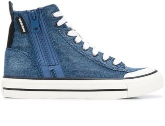 Diesel Denim Lace-Up Sneakers