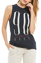 Roxy Pink Fringe 90 Graphic Tank Top