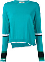 Ports 1961 ribbed sleeve jumper - women - Polyester/Viscose - M