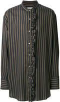 Wooyoungmi striped ruffle trim shirt