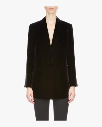 Emporio Armani Long Velvet Suit Jacket