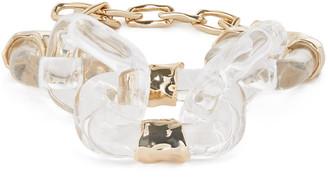 Alexis Bittar Crumpled Segment Soft Link Bracelet, Clear