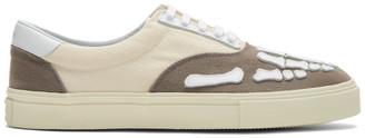 Amiri Off-White and Grey Skeleton Toe Sneakers