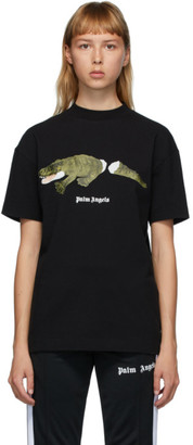 Palm Angels Black Croco T-Shirt