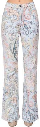 Etro Printed Denim High Waist Boyfriend Jeans