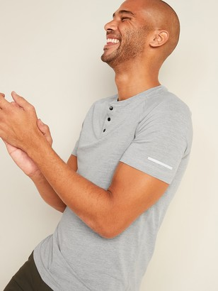 Old Navy Breathe ON Twill-Texture Henley Tee for Men