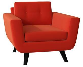 Poshbin Callie Armchair Poshbin Body Fabric: Klein Laguna, Leg Color: Black, Cushion Fill: Soft