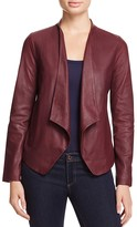 BB Dakota Wyden Harper Draped Leather Jacket