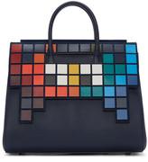 Anya Hindmarch Blue Medium Space Invaders Ephson Bag