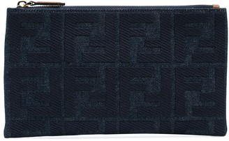 Fendi FF embroidered clutch