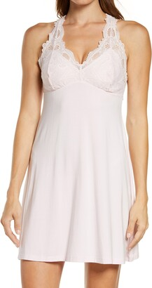 Fleurt Women's Belle Epoque Lace & Knit Chemise with Thong