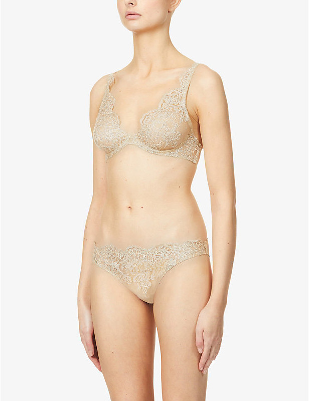 Thumbnail for your product : I.D. Sarrieri Embroidered underwired stretch-mesh bra