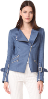 Veronica Beard Sienna Collarless Moto Jacket