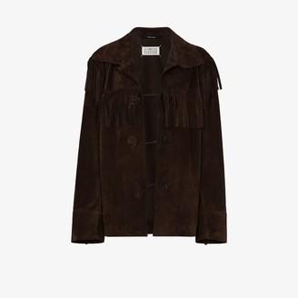 Maison Margiela Fringe-Detail Long-Sleeve Jacket
