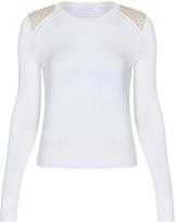Diane von Furstenberg Raleigh Two Lace Cutout Sweater