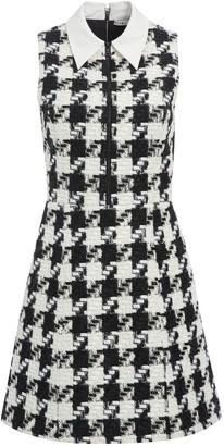 Alice + Olivia Ellis Houndstooth Mini Dress