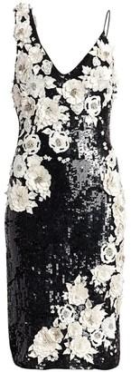 Alice + Olivia Francie Embellished Cocktail Dress