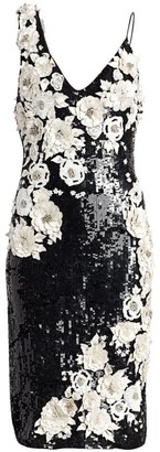 Alice + Olivia Francie Embellished Cocktail Dress