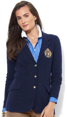 Lauren Ralph Lauren Cotton Crest Blazer