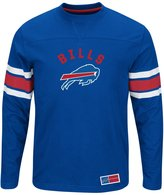 "Majestic Buffalo Bills NFL ""Powerful Hit"" Men's Long Sleeve Crew Shirt"