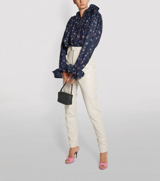 Magda Butrym Floral Print High-Low Blouse