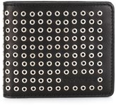 DSQUARED2 eyelet studded wallet - men - Leather/Steel - One Size