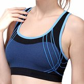 QIYUN.Z Women Wireless Sports Bra Fitness Yoga Cross Padded Stretch Tops Soutien-Gorge