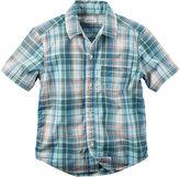 Carter's Short-Sleeve Plaid Woven Shirt - Preschool Boys 4-7