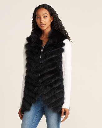 Love Token Jolene Real Fur Collared Long Vest