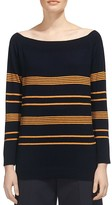 Whistles Striped Bardot Sweater