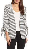 Gibson Olivia Moon Tie Sleeve Knit Blazer