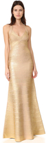 Herve Leger Halter Long Dress