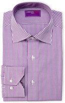 Lorenzo Uomo Purple Gingham Dress Shirt