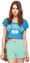 Forever 21 NY 81 Crop Tee