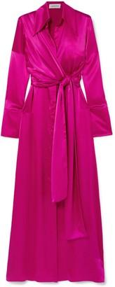 16Arlington Silk-satin Maxi Dress