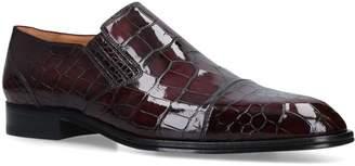 Brotini Crocodile Skin Slip-On Shoes