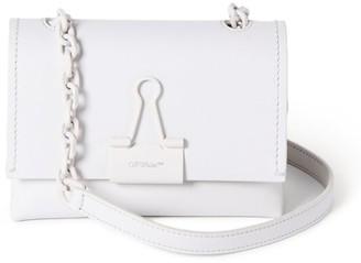 Off-White Small Leather Binder Clip Shoulder Bag