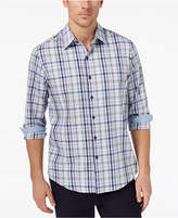 Tasso Elba Men's Geometric Plaid Shirt, Created for Macy's