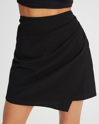 Calli - Women's Black Mini skirts - Altheda Mini Skirt - Size One Size, 8 at The Iconic