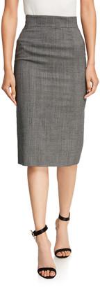 Dolce & Gabbana Tartan Check Pencil Skirt
