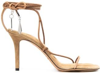 Isabel Marant Wrap-Around Strap Suede Sandals