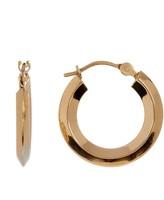 Candela 14K Gold Rhombus Tube Hoop Earrings