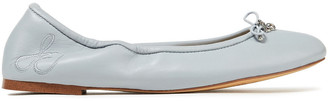 Sam Edelman Felicia Bow-embellished Leather Ballet Flats