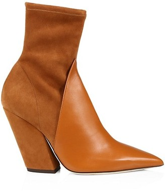 Burberry Rose Leather & Suede Ankle Boots