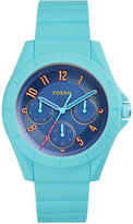 Fossil Women's Poptastic Blue Silicone Strap Watch 38mm ES4068