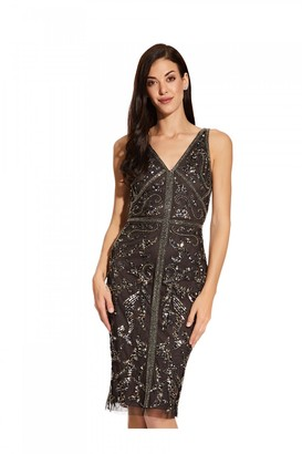 Adrianna Papell Bead Sheath Dress