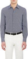 Giorgio Armani Men's Striped Cotton Seersucker Shirt