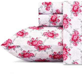 Betsey Johnson Skull Rose Trellis Sheet Set, Full Bedding