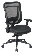 Pascarella Ergonomic Task Chair Symple Stuff Upholstery Color: Matrex Back and Leather Seat, Gunmetal Finish Base