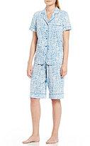 Cabernet Tree-Print Bermuda Pajamas